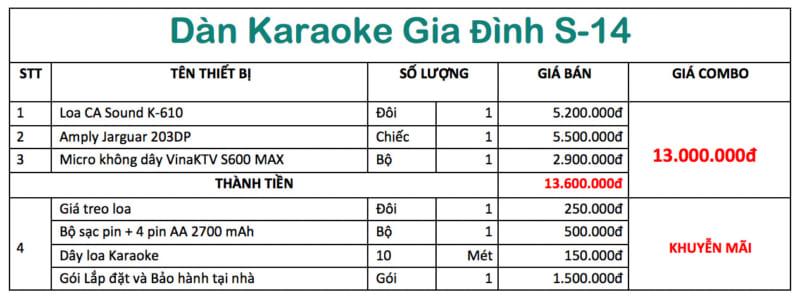 top dàn karaoke gia đình giá rẻ s15
