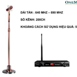 Micro chân đứng không dây Misound MK200