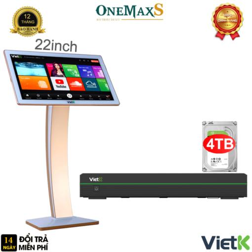 Bộ đầu màn VietK Pro 4TB màn hình 22 inch