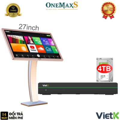 Bộ đầu màn VietK Pro 4TB màn hình 27 inch